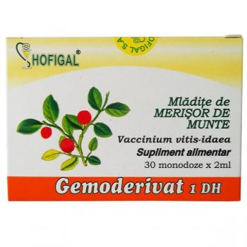 Gemoderivat din mladite de merisor de munte - monodoze 30 ml HOFIGAL