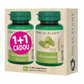 Glicemonorm 1+1 gratis 60+60 cpr DACIA PLANT