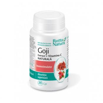 Goji extract cu vitamina c- masticabile 30 cpr ROTTA NATURA
