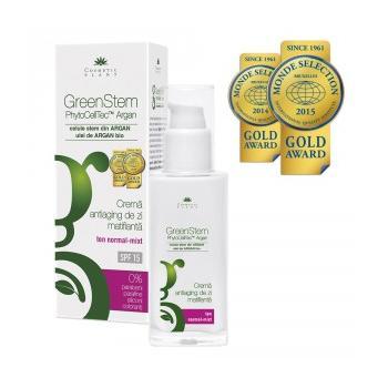 Greenstem crema antirid de zi matifianta pentru ten normal-mixt spf 15 50 ml COSMETIC PLANT