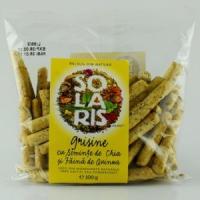 Grisine din faina integrala cu seminte chia si faina de quinoa