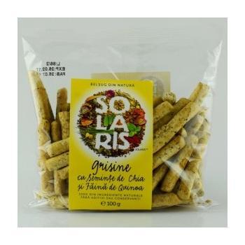 Grisine din faina integrala cu seminte chia si faina de quinoa 100 gr SOLARIS