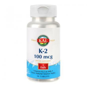Vitamina K-2 100mcg  30 cps KAL