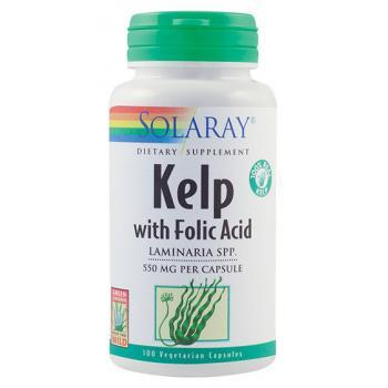 Kelp with folic acid 100 cps SOLARAY