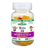 Kids d3 - vitamina d3 pentru copii 40ui-jeleuri masticabile cu aroma naturala de fructe
