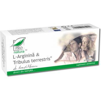 L-arginina & tribulus terrestris 30 cps PRO NATURA