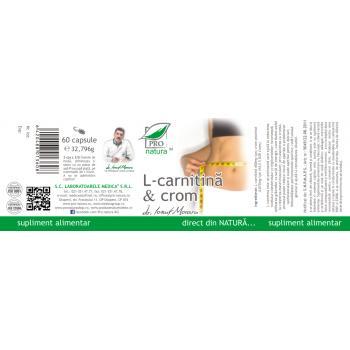 L-carnitina & crom 60 cps PRO NATURA