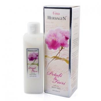 Lapte de corp parfumat cu ulei de masline petali & fiori 200 ml HERBAGEN