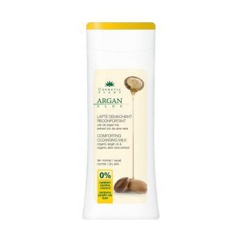 Lapte demachiant reconfortant cu ulei de arga bio si extract bio de aloe vera 200 ml COSMETIC PLANT