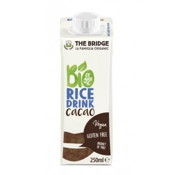 Lapte din orez cu cacao bio 250 ml THE BRIDGE