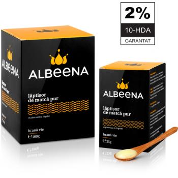 Laptisor de matca pur crud 2% 10-HDA 125 gr ALBEENA