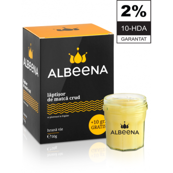 Laptisor de matca pur crud 2% 10-HDA 50 gr ALBEENA