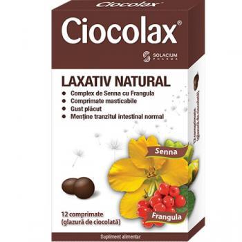 Laxativ natural ciocolax  12 cpr SOLACIUM