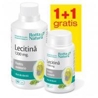 Lecitina 1200 mg - pachet promotional 1 +1 ROTTA NATURA