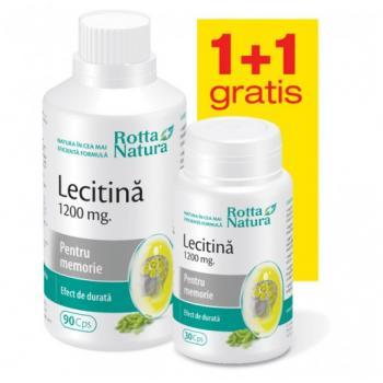 Lecitina 1200 mg - pachet promotional 1 +1 120 cps ROTTA NATURA
