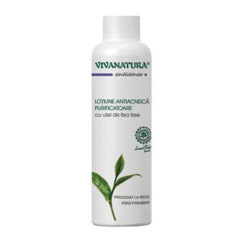 Lotiune antiacneica purificatoare cu ulei de tea tree 150 ml VIVA NATURA