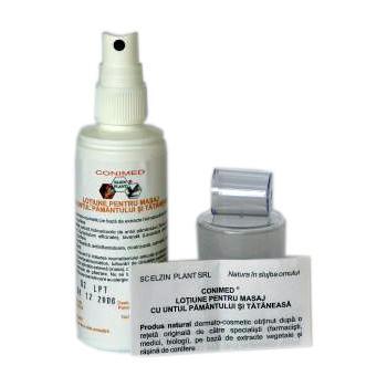 Lotiune pentru masaj cu untul pamantului si tataneasa (spray) 100 ml CONIMED