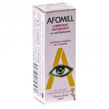 Picaturi antiiritante cu acid hialuronic-lubrifiant 10 ml AFOMILL
