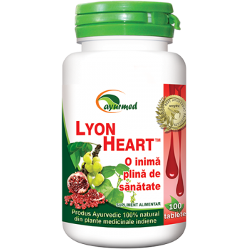 Lyon heart, o inima plina de sanatate 100 tbl AYURMED
