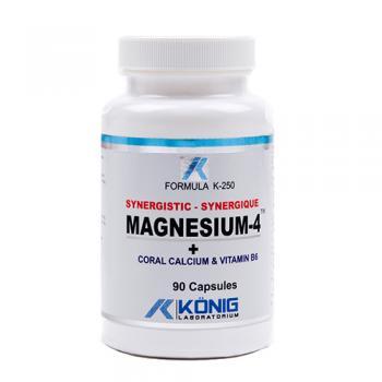 Magnesium-4 cu calciu coral si vitamina b6 90 cps FORMULA K