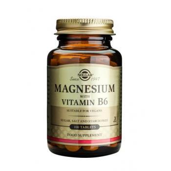 Magnesium cu vitamina b6 100 tbl SOLGAR