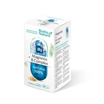 Magneziu + b complex natural 30 cps ROTTA NATURA