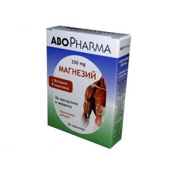 Magneziu 250mg+vitamina b complex 30 cps ABO PHARMA