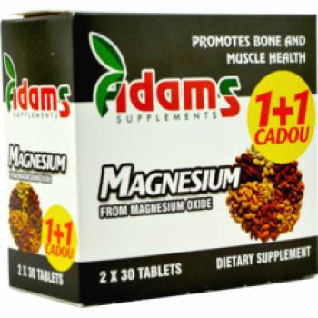 Magneziu 375mg 1+1 gratis 30 cpr ADAMS SUPPLEMENTS