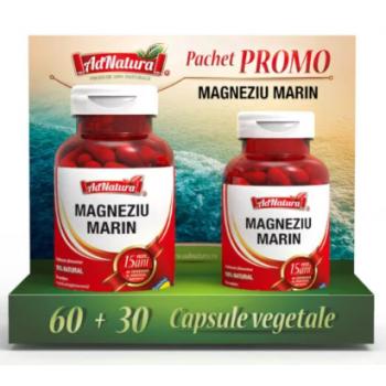 Magneziu marin (promo) 60+30 cps ADNATURA