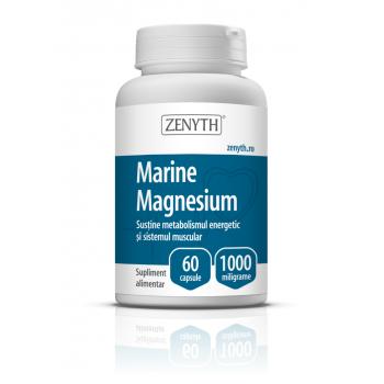 Magneziu marin, sustine metabolismul energetic si sistemul muscular 60 cps ZENYTH
