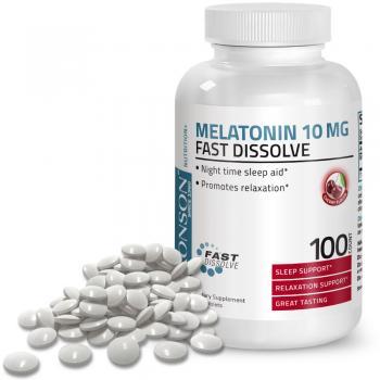 Melatonina 10mg -aroma cirese- dizolvare rapida 100 cps BRONSON