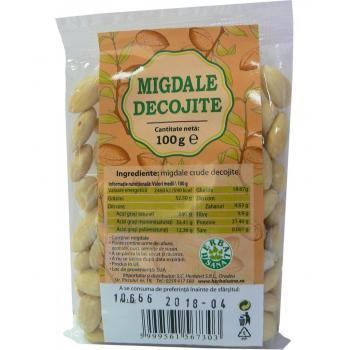 Migdale crude decojite 100 gr HERBALSANA