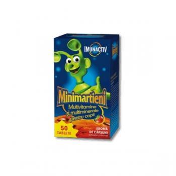 Minimartieni imunactiv cu aroma de capsuni 50 tbl WALMARK