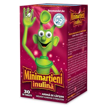 Minimartieni inulina cu aroma de capsuni 30 tbl WALMARK