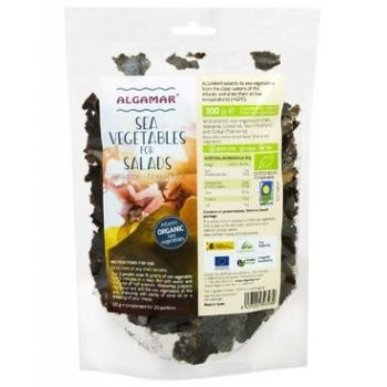 Mix alge marine pentru salata eco - nori,dulse,wakame 100 gr ALGAMAR