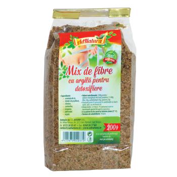 Mix de fibre cu argila pentru detoxifiere 200 gr ADNATURA