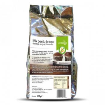 Mix pentru briose dietetice cu gust de cacao 150 gr NO CARB