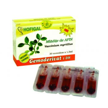 Gemoderivat din mladite de afin - monodoze 30 ml HOFIGAL