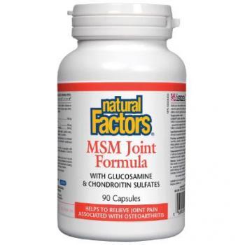 MSM Joint Formula  (Reparator de Cartilaje) MSM, Glucozamină, Condroitină 90 cps NATURAL FACTORS