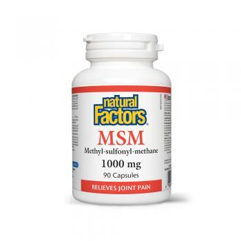 Msm-methyl-sulfonyl-methane din surse vegetale 90 cps NATURAL FACTORS