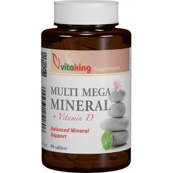 Multi mega mineral cu vitamina d 90 cpr VITAKING