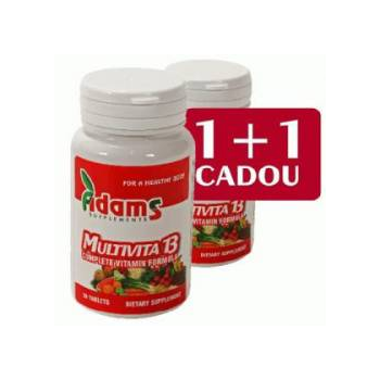 Multivita 13 1+1 gratis 30 cpr ADAMS SUPPLEMENTS
