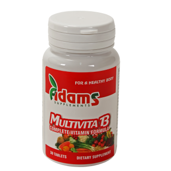 Multivita 13 30 tbl ADAMS SUPPLEMENTS