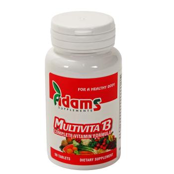 Multivita 13 90 tbl ADAMS SUPPLEMENTS