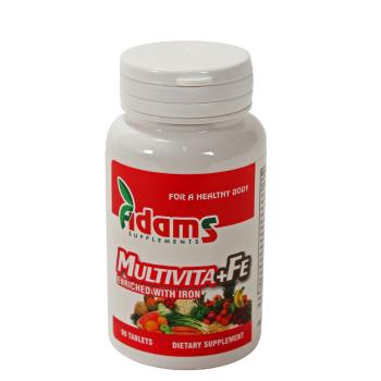 Multivita + fe 90 tbl ADAMS SUPPLEMENTS