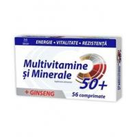 Multivitamine si minerale + ginseng 50+
