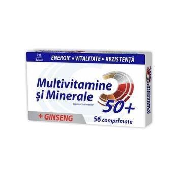 Multivitamine si minerale + ginseng 50+ 56 cpr ZDROVIT