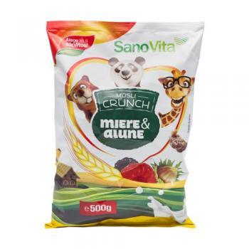 Musli crunch cu miere si alune 500 gr SANO VITA
