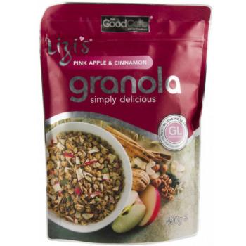 Musli granola lizi`s cu mar roz si scortisoara 400 gr UNICORN NATURALS