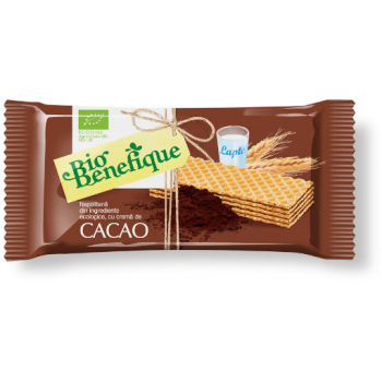 Napolitana cu crema de cacao 40 gr BIO BENEFIQUE